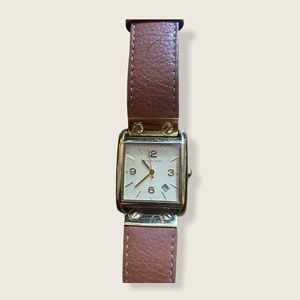 MICHAEL KORS Women's Gold Brown Leather Watch